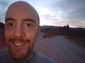 Corey at Mexican Hat Rock in Utah