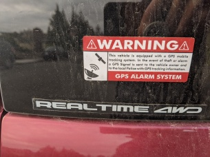 Car Essentials Warning Sticker