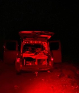 Red Lights Car Camper